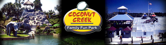 Coconut Creek Family Fun Park is located at: 9807 Front Beach Road,Panama City Beach, Florida 32407 Phone: 850-234-2625 Fax: 850-234-9955 Toll Free: 888-764-2199